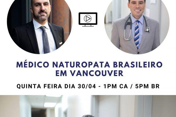 Live do Instagram Dr. Alan Brum,ND – Naturopata Brasileiro em BC